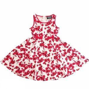 Hearts & Roses London Retro Red Floral Dress